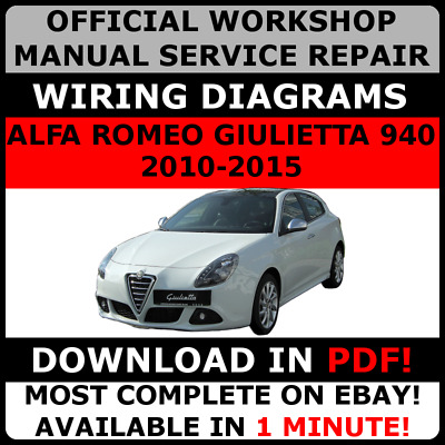 # OFFICIAL WORKSHOP Repair MANUAL for ALFA ROMEO GIULIETTA 940 2010-2015 #