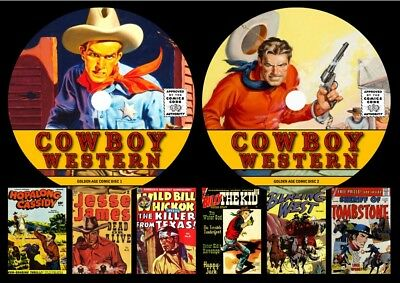 Cowboy Golden Age Comics On Two DVD Rom's