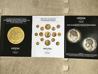 Three World Coins Auction Catalogs - Spink 2017 Islamic & World Coins