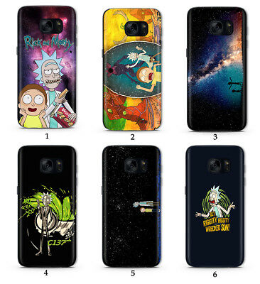 RICK AND MORTY COMEDY CARTOON FUNNY HD Print Phone Case Cove For Samsung Galaxy