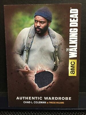 The Walking Dead Season 4//1 M19 Wardrobe Card Tyreese Williams