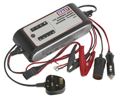 Compact Auto Digital Battery Charger - 9-Cycle 12V From Sealey