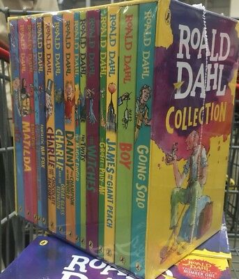 Roald Dahl Collection 15 Book Box Set Lot Paperback Childrens Stories NEW Blake