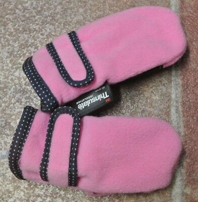 New girls thinsulate mittens Pink 1-2 years