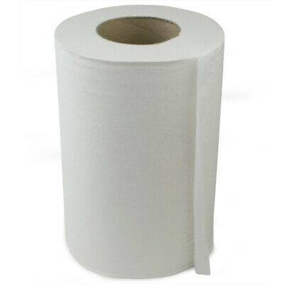 Mini Centre Feed Rolls White - Pack of 12 | 130m Roll of Paper Hand Towels