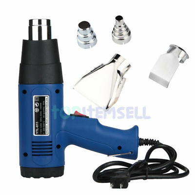Heat Gun 1500 Watt 4 Nozzles New Heat Gun Hot Air Dual Temperature Power Tool