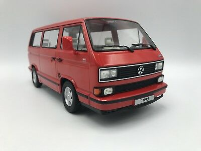 VW T3 Multivan Limited Last Edition 1992 - rot - 1:18 KK-Scale  >>NEW<<