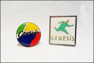 Genesis Lot Of 2 80's Pins / Abacab  / Duke / Phil Collins