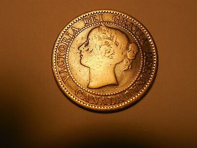 1859 Canadian LargePenny/Cent in G-VG condition. But you decide!!!!!!