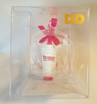 Dunkin' Donuts Globe Cup Ornament Coffee Cup Christmas 2017 (NIP) So Cute!