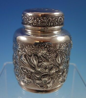 Gorham Sterling Silver Tea Caddy with Floral Motif #235 (#2052)