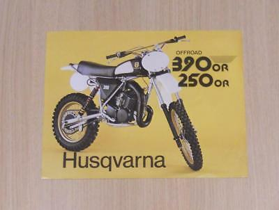 HUSQVARNA OFF ROAD 250 OR & 350 OR Motorcycles Sales Specification Sheet 1979