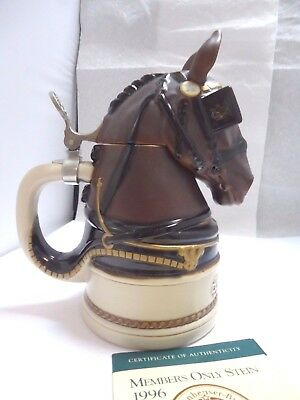 1996 The Anheuser - Busch Collectors Club Members Only Stein