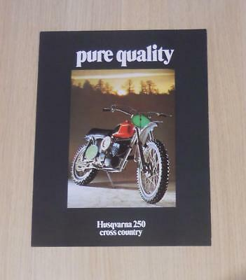 HUSQVARNA 250 CROSS COUNTRY Motorcycles Sales Specification Sheet c1970s