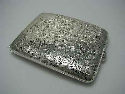 JAPANESE SOLID SILVER CIGARETTE CASE STERLING SILVER 950 Silver Asia Japan 1950s