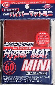 MTG KMC Hyper MAT Mini - Red 62x89mm 60pcs., New, Card Sleeves - Small Size X1