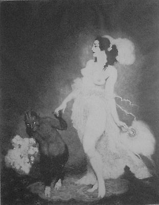 "Norman Lindsay Facsimile Etching ""Debut""   No 121/550"