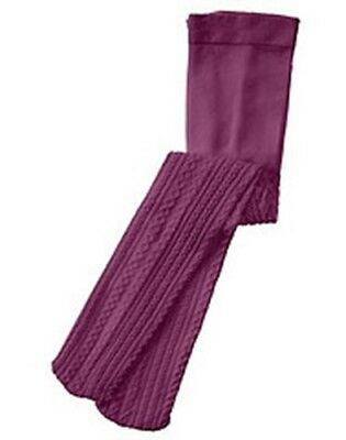 NWT 5-7 Years Gymboree AUTUMN HIGHLANDS Purple Cableknit Nylon Blend Tights