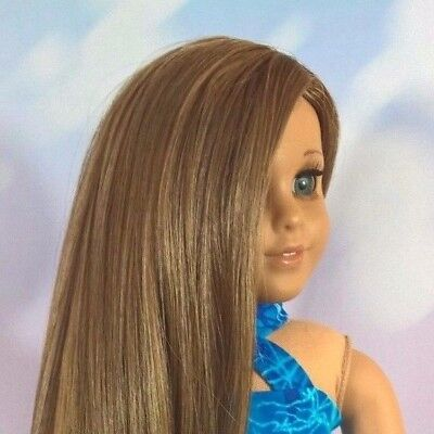 10-11 Custom Doll Wig fit Blythe-American Girl-1/4 Size Doll GOLDEN WILLOW bn1
