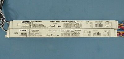 Two Osram Quicktronic QHE 2x54T5Ho/UNV PSN High-Efficiency Electronic Ballasts