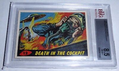 1962 Mars Attacks Death in the Cockpit Card #12 BVG 8.5 Like PSA BGS Alien Topps