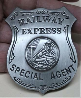 Quality Reproduced <> Railway Express Special Agent <> Raised Center Logo