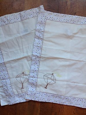 2 Mothercare Loved So Much Cot Pillowcases   ** Brand New **