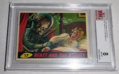 1962 Mars Attacks Topps Beast & The Beauty Card #17 BVG 8 Like PSA BGS Alien
