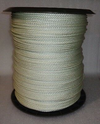 "New Twisted White Nylon Rope 1/4"" X 2250 Feet Foot Reel"