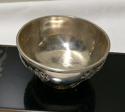 19thC China export Solid Silver Bowl by Wang Hing &Co    C1890