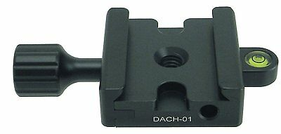 """Hiro DACH-01 50mm Clamp QR 3/8"""" w 1/4"""" Adapter Arca Compatible NEW"""