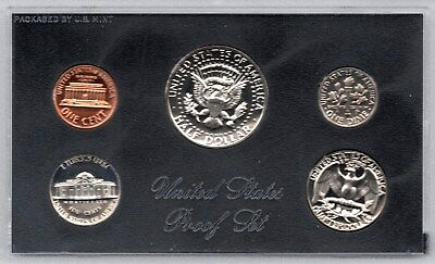 1972 Usa 5 Coin Mint Proof Set In Original Sealed Case & Cardboard Wallet