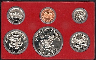 1974 Usa 6 Coin Mint Proof Set In Original Sealed Case & Cardboard Wallet
