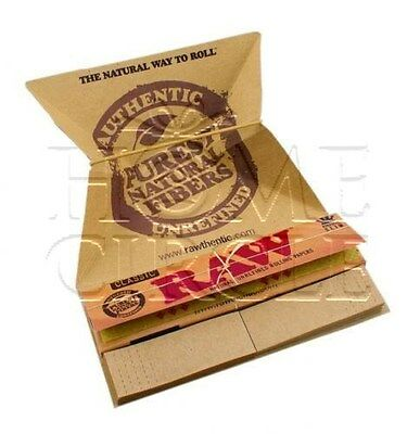 Raw Artesano King Size Slim Rolling Papers Classic + Tips Tray Smoking Cigarette