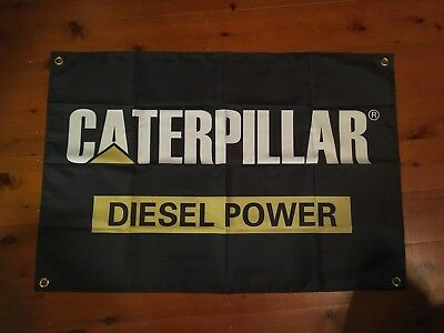 Man cave shed flags pool room sign  caterpillar  Australian truckers 3x2 foot