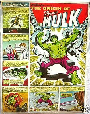 ORIGIN OF THE INCREDIBLE HULK POSTER Coca-Cola BUSCEMA