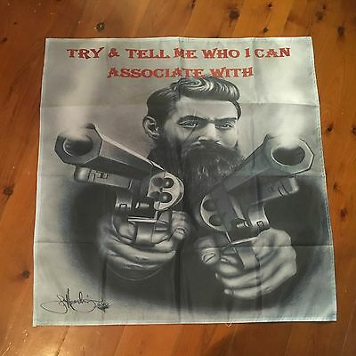 Ned Kelly outlaw  mancave flag  30 x 30 inch  wall hanging  Pool room bar  flag