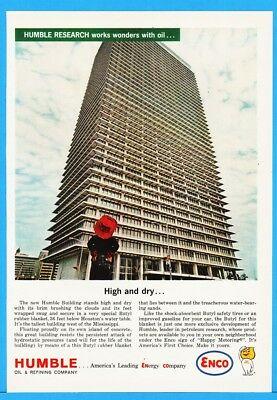 1963 Humble Oil Building Houston TX Tallest West OF Mississippi ENCO Print Ad