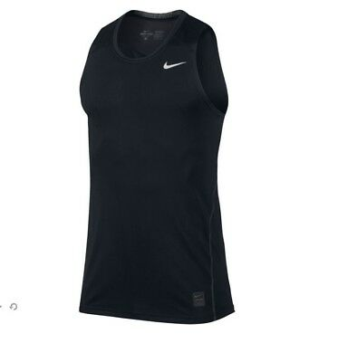 NWT Nike Men's Dri-Fit Pro Cool Sleeveless Tank Shirt 703106-010 Black M,L,XL
