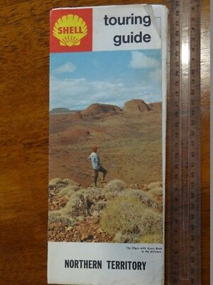 1 x OLD RETRO SHELL TOURING GUIDE NORTHERN TERRITORY TRAVEL GUIDE / MAP