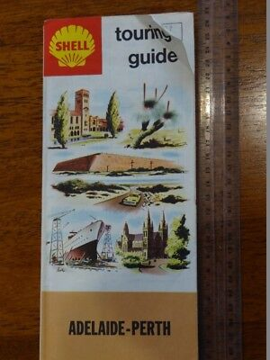 1 x OLD RETRO SHELL TOURING GUIDE ADELAIDE-PERTH TRAVEL GUIDE / MAP