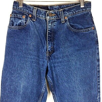 Levis 550 Womens Jeans 9 Short Denim Blue Cotton Relaxed Tapered Leg Mom Jean