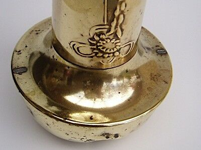 OLD BRASS VASE - Art Nouveau design - 265mm high
