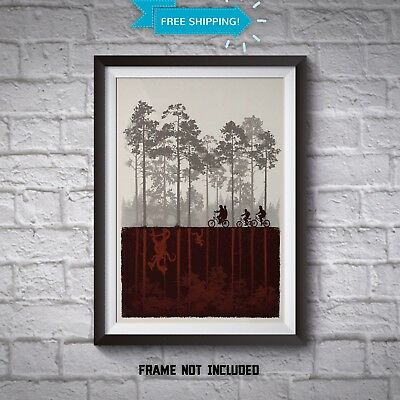 Stranger Things Art - The Upside Down Posters - TV Show Art Prints - All Sizes
