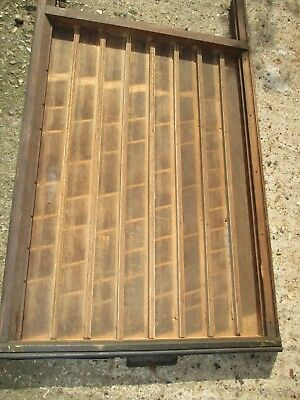 Genuine Vintage wooden LUDLOW letterpress printers tray,Art & Craft shadow box-