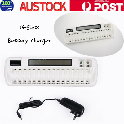 16 slots 16-banks Smart Battery Charger For AA & AAA NiMH NICD Battery AU Stock