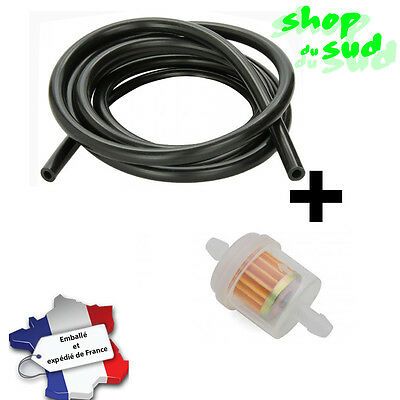 Durite Essence 6Mm Noir 1M + Filtre A Essence Moto Cross Scooter Scoot Derbi ...