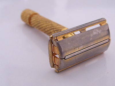 Alter Rasierer/ Safty Razor Brit.Pat. 694093 Vergoldet  Made in England