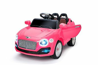 6v pink kids girls ride on car electric battery powered remote control