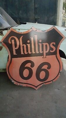 porcelain enamel phillips 66 40inch by 41 inch double sided sign